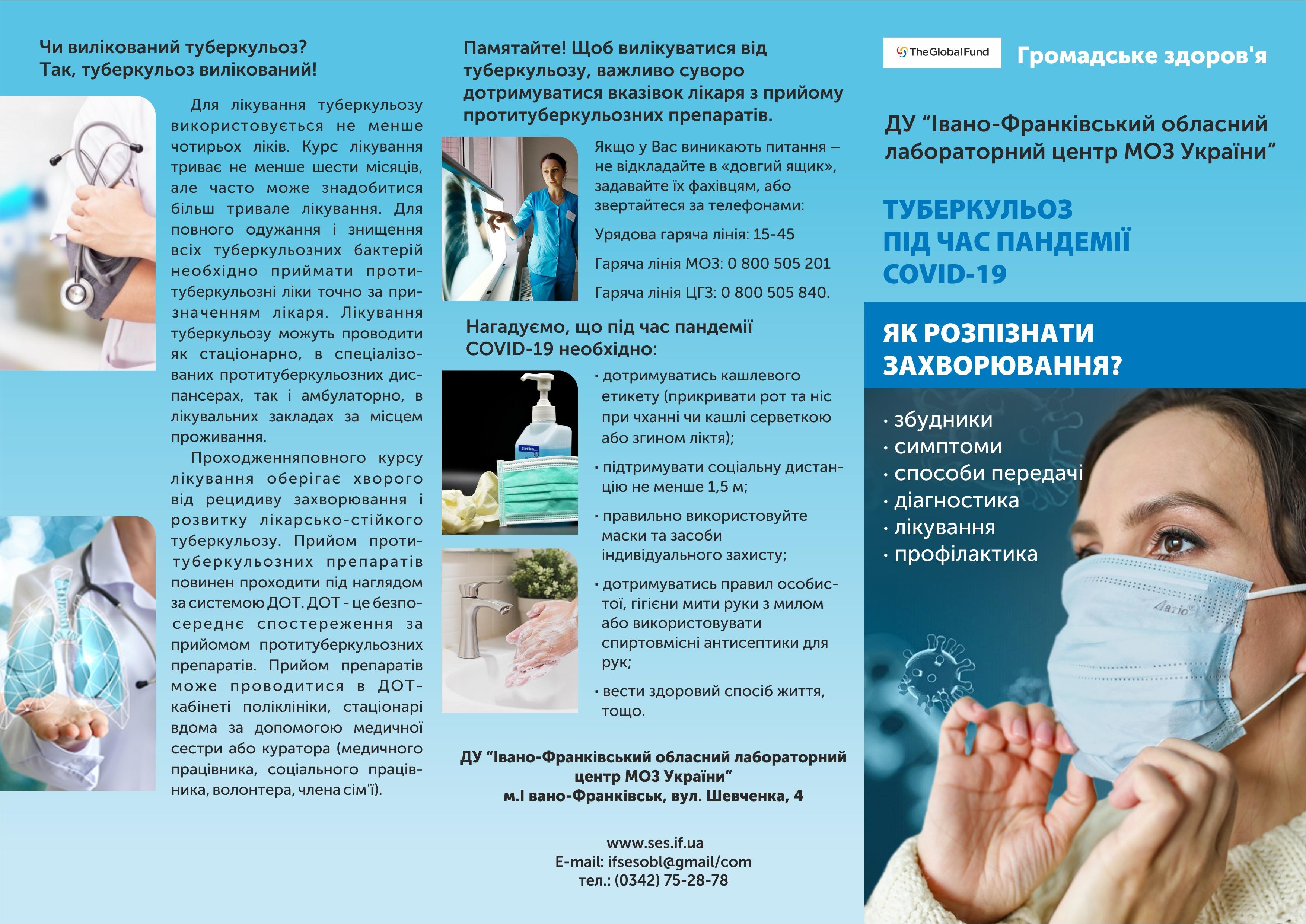 Туберкульоз під час пандемії COVID-19: Як розпізнати захворювання